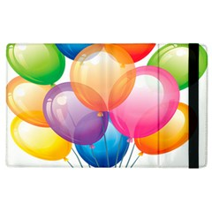 Birthday Happy New Year Balloons Rainbow Apple Ipad 3/4 Flip Case by AnjaniArt