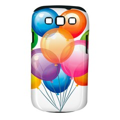 Birthday Happy New Year Balloons Rainbow Samsung Galaxy S Iii Classic Hardshell Case (pc+silicone) by AnjaniArt
