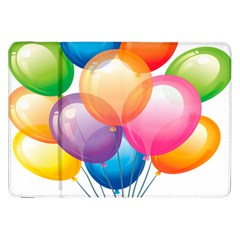 Birthday Happy New Year Balloons Rainbow Samsung Galaxy Tab 8 9  P7300 Flip Case by AnjaniArt