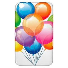 Birthday Happy New Year Balloons Rainbow Samsung Galaxy Tab 3 (8 ) T3100 Hardshell Case  by AnjaniArt