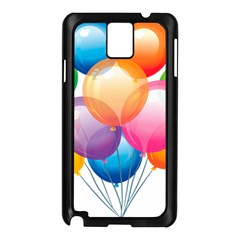 Birthday Happy New Year Balloons Rainbow Samsung Galaxy Note 3 N9005 Case (black) by AnjaniArt