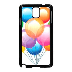 Birthday Happy New Year Balloons Rainbow Samsung Galaxy Note 3 Neo Hardshell Case (black) by AnjaniArt