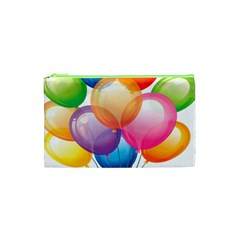 Birthday Happy New Year Balloons Rainbow Cosmetic Bag (xs) by AnjaniArt