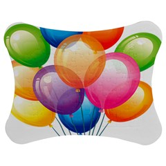 Birthday Happy New Year Balloons Rainbow Jigsaw Puzzle Photo Stand (bow) by AnjaniArt