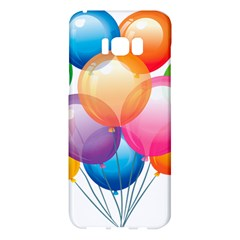 Birthday Happy New Year Balloons Rainbow Samsung Galaxy S8 Plus Hardshell Case  by AnjaniArt