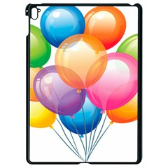 Birthday Happy New Year Balloons Rainbow Apple Ipad Pro 9 7   Black Seamless Case by AnjaniArt