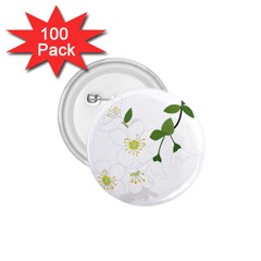 Flower Floral Sakura 1 75  Buttons (100 Pack)  by AnjaniArt