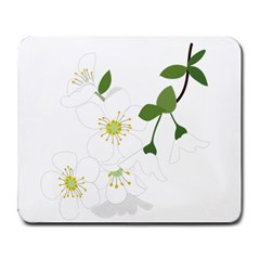 Flower Floral Sakura Large Mousepads by AnjaniArt