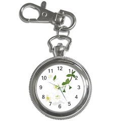 Flower Floral Sakura Key Chain Watches by AnjaniArt