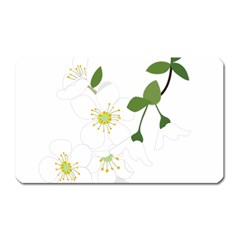 Flower Floral Sakura Magnet (rectangular) by AnjaniArt