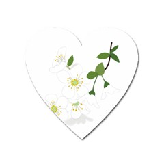 Flower Floral Sakura Heart Magnet by AnjaniArt