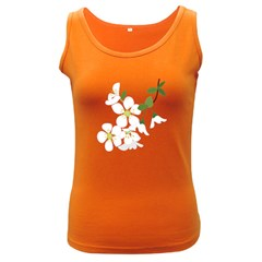 Flower Floral Sakura Women s Dark Tank Top by AnjaniArt