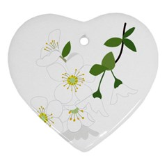 Flower Floral Sakura Heart Ornament (two Sides) by AnjaniArt