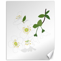 Flower Floral Sakura Canvas 16  X 20   by AnjaniArt