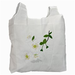 Flower Floral Sakura Recycle Bag (one Side) by AnjaniArt