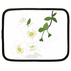 Flower Floral Sakura Netbook Case (xl)  by AnjaniArt