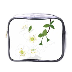 Flower Floral Sakura Mini Toiletries Bags by AnjaniArt
