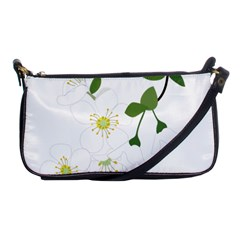 Flower Floral Sakura Shoulder Clutch Bags by AnjaniArt