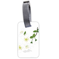 Flower Floral Sakura Luggage Tags (one Side)  by AnjaniArt