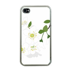 Flower Floral Sakura Apple Iphone 4 Case (clear) by AnjaniArt
