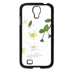 Flower Floral Sakura Samsung Galaxy S4 I9500/ I9505 Case (black) by AnjaniArt