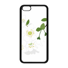 Flower Floral Sakura Apple Iphone 5c Seamless Case (black) by AnjaniArt