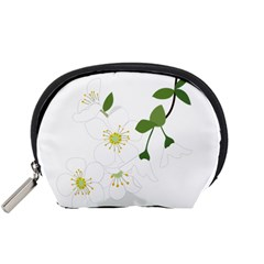 Flower Floral Sakura Accessory Pouches (small)