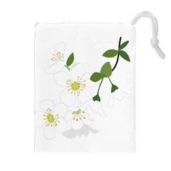 Flower Floral Sakura Drawstring Pouches (extra Large) by AnjaniArt