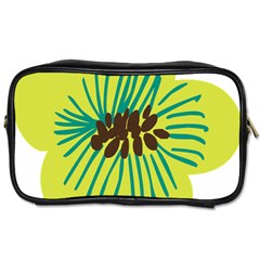Flower Floral Green Toiletries Bags by AnjaniArt