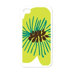 Flower Floral Green Apple Iphone 4 Case (white) by AnjaniArt