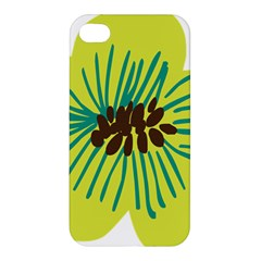 Flower Floral Green Apple Iphone 4/4s Hardshell Case by AnjaniArt