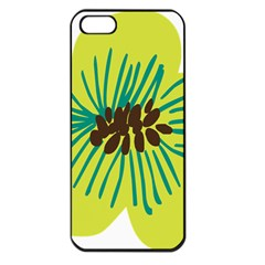 Flower Floral Green Apple Iphone 5 Seamless Case (black) by AnjaniArt