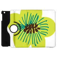 Flower Floral Green Apple Ipad Mini Flip 360 Case by AnjaniArt