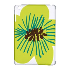 Flower Floral Green Apple Ipad Mini Hardshell Case (compatible With Smart Cover) by AnjaniArt