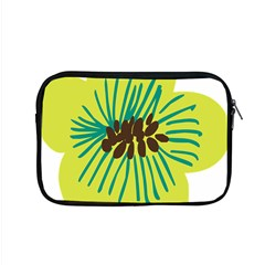 Flower Floral Green Apple Macbook Pro 15  Zipper Case by AnjaniArt