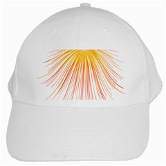Fireworks Yellow Light White Cap by AnjaniArt