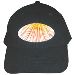 Fireworks Yellow Light Black Cap by AnjaniArt
