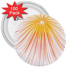 Fireworks Yellow Light 3  Buttons (100 Pack)