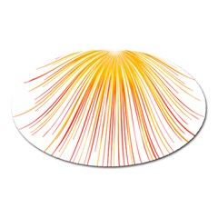 Fireworks Yellow Light Oval Magnet by AnjaniArt