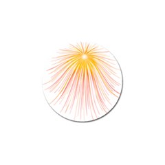 Fireworks Yellow Light Golf Ball Marker (4 Pack)