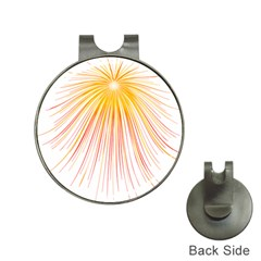 Fireworks Yellow Light Hat Clips With Golf Markers by AnjaniArt