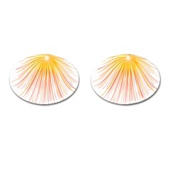 Fireworks Yellow Light Cufflinks (oval) by AnjaniArt