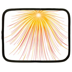 Fireworks Yellow Light Netbook Case (xxl)  by AnjaniArt