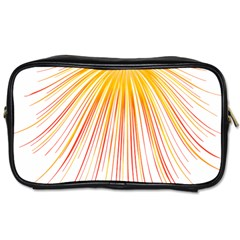 Fireworks Yellow Light Toiletries Bags by AnjaniArt