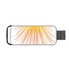 Fireworks Yellow Light Portable Usb Flash (two Sides) by AnjaniArt