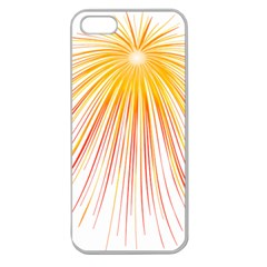 Fireworks Yellow Light Apple Seamless Iphone 5 Case (clear) by AnjaniArt