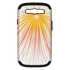 Fireworks Yellow Light Samsung Galaxy S Iii Hardshell Case (pc+silicone) by AnjaniArt