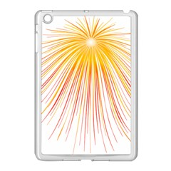 Fireworks Yellow Light Apple Ipad Mini Case (white) by AnjaniArt