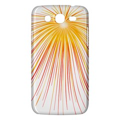 Fireworks Yellow Light Samsung Galaxy Mega 5 8 I9152 Hardshell Case  by AnjaniArt