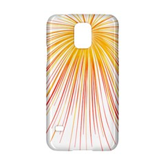 Fireworks Yellow Light Samsung Galaxy S5 Hardshell Case  by AnjaniArt